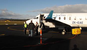 Stephan, about to board the plane at Kaitaia Airport