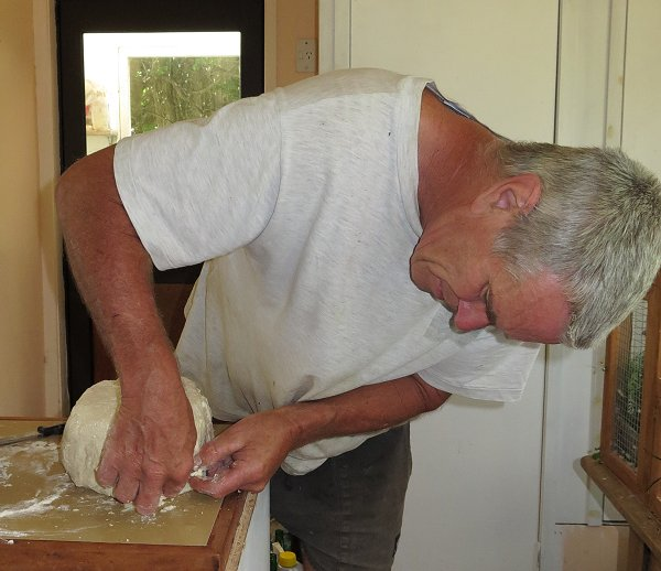preparing a raw ham for cooking
